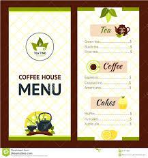 Tea Cafe Menu Stock Vector Illustration Of Brochure 62447882