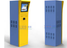Vending Machine Credit Card Reader Beauteous Parking Ticket Vending Machine Half Outdoor Kiosk With Member Card