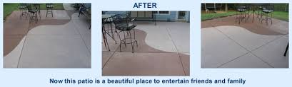 stained concrete patio before and after. Patio Beautifully Restored With Concrete Stain Stained Before And After N