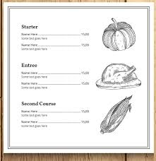 Free Thanksgiving Templates For Word 8 Best Selling Thanksgiving Restaurant Menu Templates