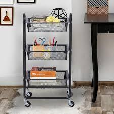 Chart Cart On Wheels Mental Kitchen Utility Trolley Storage Cart Multifunction