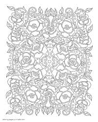 Here is a simple drawings of. Printable Coloring Pages For Adults Flowers Roses Coloring Pages Printable Com