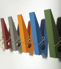 Decorations:Wonderful Colorful Clothespin Wall Mounted Coat Hooks Provides  A Convenient And Space Efficient Inspiring
