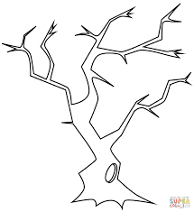 Small Picture Bare Tree with Hollow coloring page Free Printable Coloring Pages