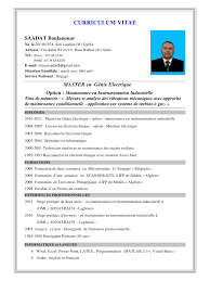 Mod Le De Cv Par Groupe Igf Cv Saadat Pdf Fichier Pdf