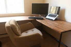 diy home office ideas. Diy Ikea Butcher Block Endearing Home Office Desks Ideas M