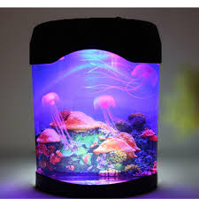 Led Jellyfish Aquarium Multi Colored Lighting Fish Tank Mood Night