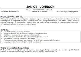 Cv Personal Profile Examples Receptionist Cv Sample