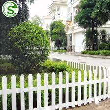 garden fence pvc plastic white fence