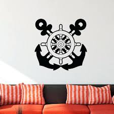 ship wheel wall decor new arrival modern design nautical anchor ship wheel wall decals vinyl removable