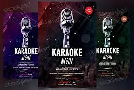 free flayers karaoke night free psd flyer template on behance