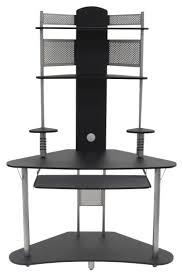 Studio Designs Arch Tower Computer Desk Calico Designs Arch Tower Computer Desk Black Silver