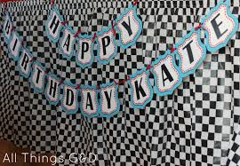 free cars birthday party printables cars route 66 happy birthday banner allthingsgd