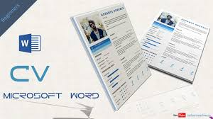 How To Make A Resume Cv With Ms Word Free Doc Pdf Advanced Cv