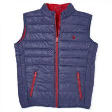 u s polo assn vest for men navy red
