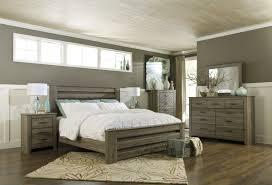 Ash Wood Bedroom Furniture Zelen Warm Gray Wood 5pc Bedroom Set W Queen Poster Bed Bedrooms