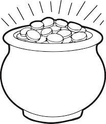 Small Picture Free Printable Pot of Gold Coloring Page for Kids