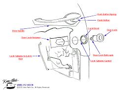 door lock parts diagram. Outside Door Handle \u0026amp; Lock Diagram For A 1963 Corvette Parts R