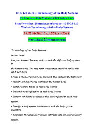 Body Systems Chart Hcs 120 Week 4 Terminology Of The Body Systems By Pallavi3p