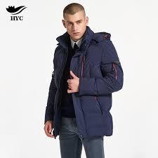 2018 hai yu cheng winter coat male puffer jacket fashion parka men plus size moto jacket windproof trench mens windbreaker hot from seein
