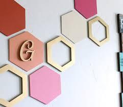 hexagon wall art