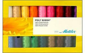 Details About Metrosene Ps18 Kit Ps18 Kit Mettler Poly Sheen Thread Gift Set 18pc