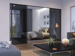 glass room dividers interior sliding