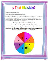 free divisibility game   grades       divisibility rules  divisibility printable  divisibility Lessons From The Middle