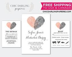 <b>Free Shipping</b>, PRINTED or <b>DIGITAL Finger</b> Prints Wedding ...