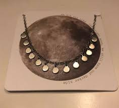 details about francesca s silver full moon necklace
