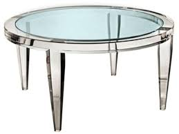 image of round acrylic coffee table