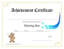 Free Printable Certificate Of Achievement Online Template