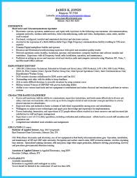 Telecommunication Specialist Resume How To Make Cable Technician Resume That Is Really Perfect 23