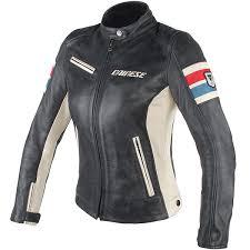dainese las lola d1 leather jacket black ice red blue thumb 0