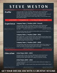 Bold CV Template - Resumes Stationery