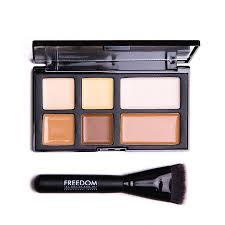freedom makeup london pro cream strobe palette with brush