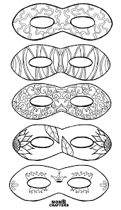 Cut out the mask shape and then just. Color In Masks Free Printable Coloring For Adults And Kids