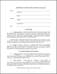 with material construction agreement residential construction contract template free 189 ocweb