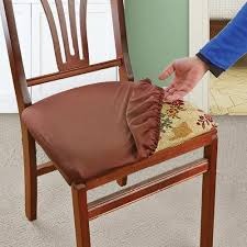 dining chair covers. Amazon.com: Soft, Stretchable, Removable, Machine Washable Seat Covers And Protectors For Kids, Pets Entertaining, Set Of 2, Brown: Home \u0026 Kitchen Dining Chair