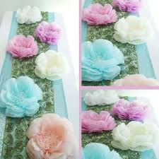 Large Tissue Paper Flower 2 Size Pack Carnation Blue 3d Wall Large Tissue Paper