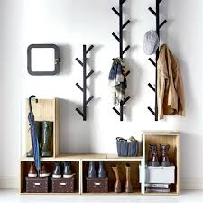 Wall Mounted Coat Rack With Hangers Crafty Inspiration Wall Mounted Coat Rack With Mirror Hanger Gray 60