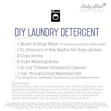 diy laundry detergent recipe with thieves household cleaner