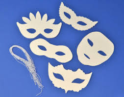 Card Masks To Decorate 60 Assorted White Card Masks for Kids Crafts Masks to Decorate 6