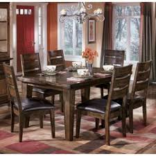 ashley furniture formal dining room sets. larchmont dark brown rectangular leg dining table, ashley, collection ashley furniture formal room sets r