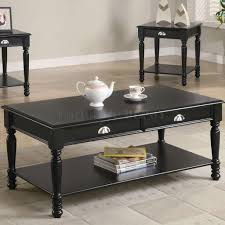 Black Coffee Tables Coffee Table Set Framed Glass Top Coffee Table Set Looks Terrific