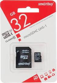 <b>SmartBuy</b> microSDHC Сlass 10 32GB <b>карта памяти</b> (с адаптером ...