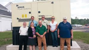 School generator Old Dc From Left Back Bob Morlino Ed Cleveland And Kellie Waite With Jay Luebke Add Letters Emergency Generator Now In Place At Mettawee Community School