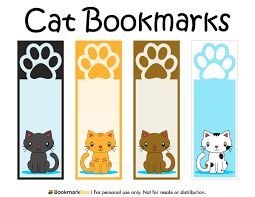 Bookmark Designs To Print Free Printable Cat Bookmarks With Paw Prints Download The