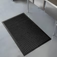 Kitchen Rubber Floor Mats Apex 755 100 T30 Competitor 3 X 5 Black Anti Fatigue Rubber