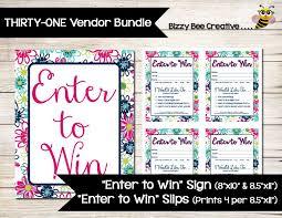 Enter To Win Patio Pop Inspired Sign Door Prize